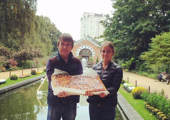 Гигантский тыквенный пирог подарили «Аптекарскому огороду» в честь 310-летия