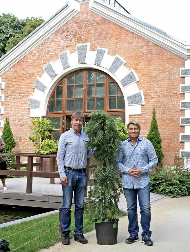 Николай Басков подарил «Аптекарскому огороду» коллекцию растений — ровесников динозавров