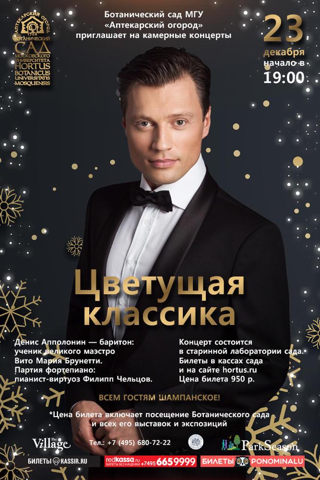 23 декабря — предновогодний концерт с вальсами, романсами, оперой в «Аптекарском огороде»